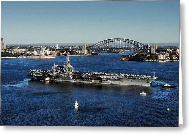 Greeting Card featuring the photograph Sydney Harbor by John Swartz