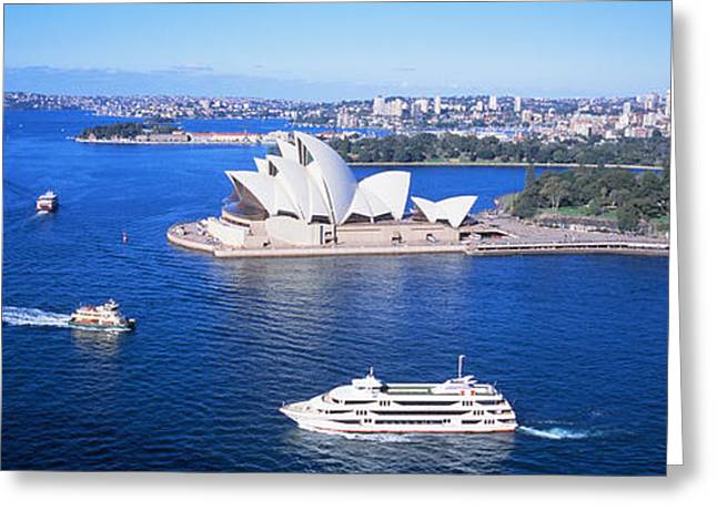 Sydney Harbor, Sydney, Australia Greeting Card by Panoramic Images