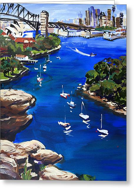 Sydney Harbour Boats Greeting Card