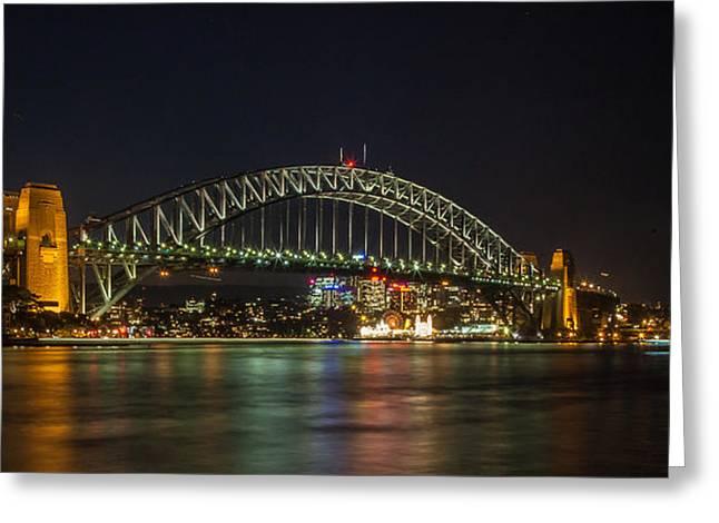 Sydney Harbour Bridge 2 Greeting Card by Dasmin Niriella