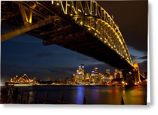 Greeting Card featuring the photograph Sydney Harbour Bridge by Miroslava Jurcik