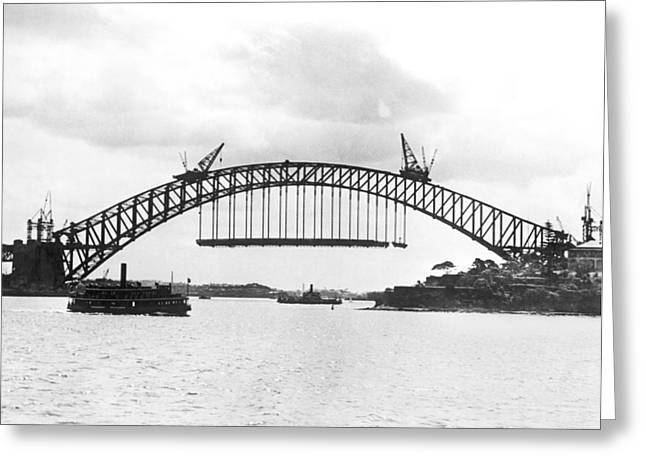 Sydney Harbour Bridge Greeting Card by Underwood Archives