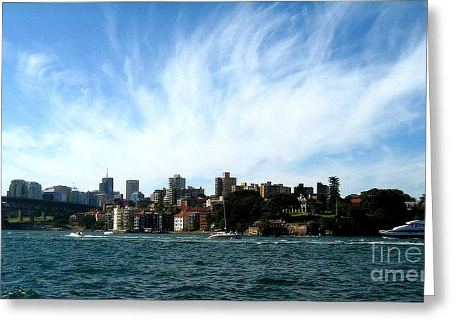 Greeting Card featuring the photograph Sydney Harbour Sky by Leanne Seymour