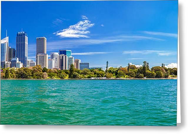 Sydney Harbour Skyline 3 Greeting Card by Az Jackson