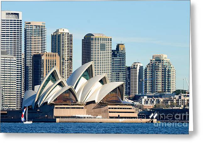 Sydney Opera House And Sydney Harbor - A Classic View Greeting Card