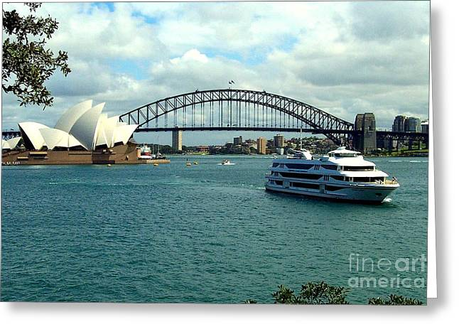 Sydney Opera House Greeting Card by John Potts