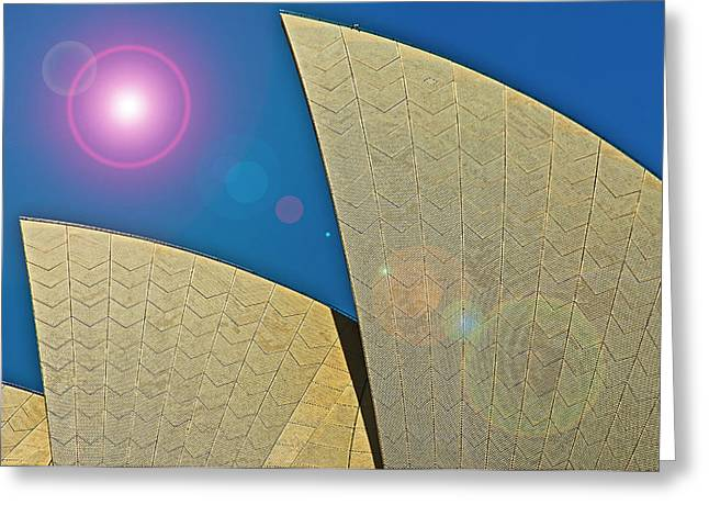 Sydney Opera House Roof Exterior Greeting Card