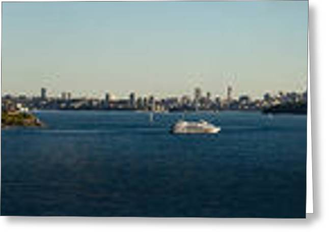 Greeting Card featuring the photograph Sydney Panorama by Miroslava Jurcik
