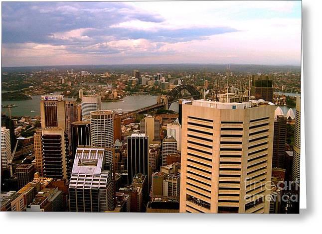 Sydney Skyline Greeting Card by John Potts