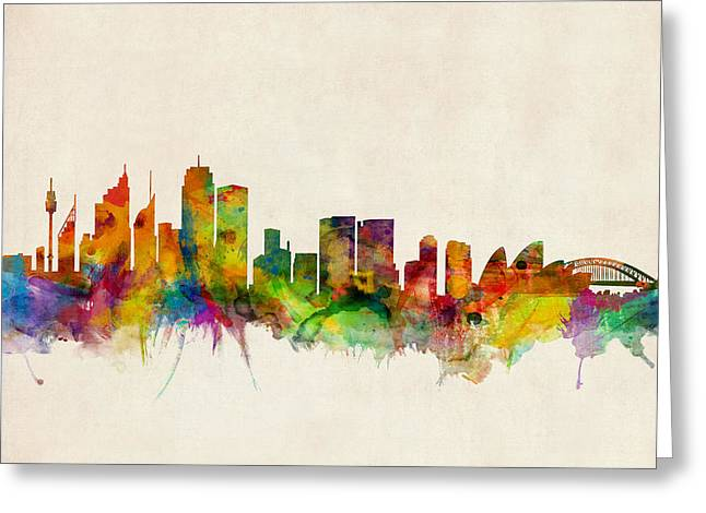 Sydney Skyline Greeting Card