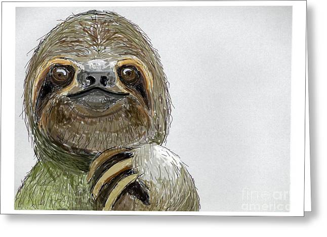 Sydney The Three-toed Sloth Greeting Card