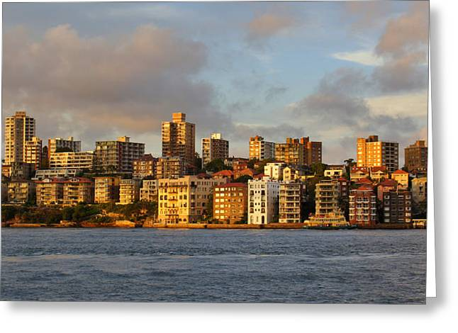 Sydney Town Houses Greeting Card by DerekTXFactor Creative