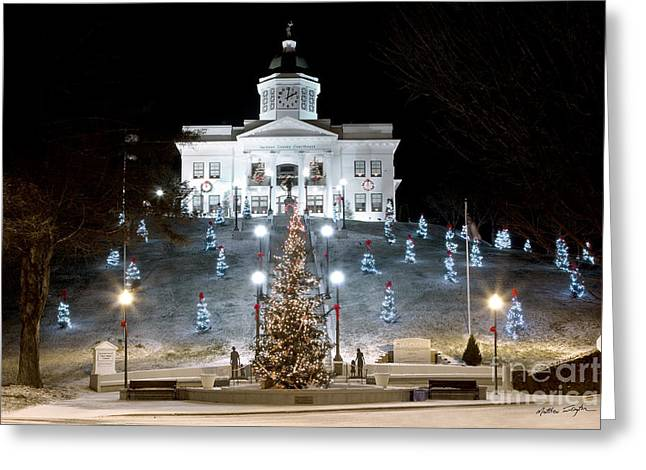 Sylva Courthouse 2012 Greeting Card
