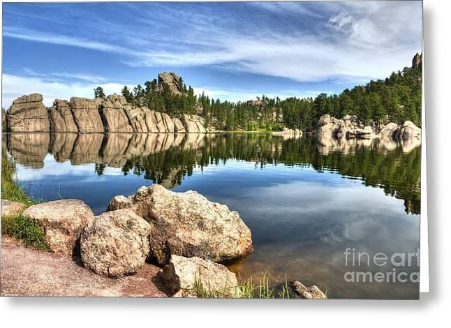 Sylvan Lake Reflections 2 Greeting Card