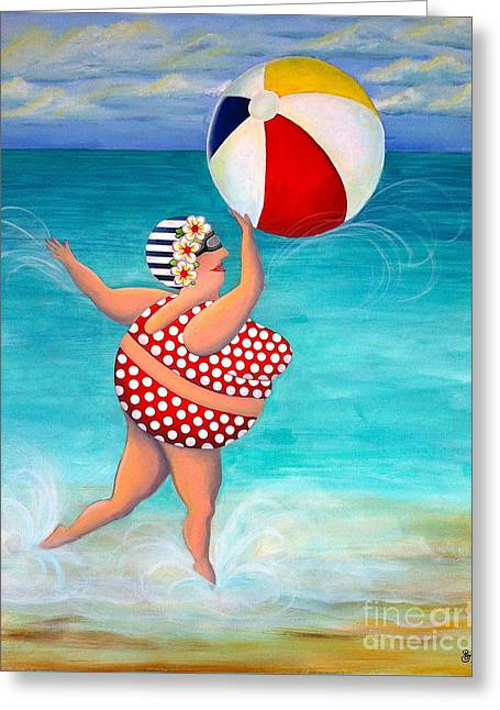 Sylvia At The Beach Greeting Card
