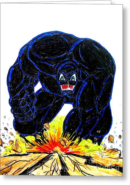 Symbiote Guy Greeting Card by Justin Moore