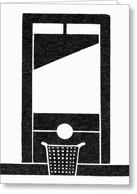 Symbol Guillotine Greeting Card by Granger