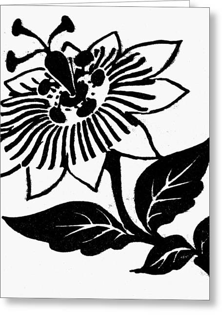 Symbol Passion Flower Greeting Card by Granger