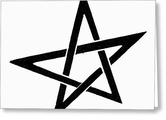 Symbol Pentacle Greeting Card by Granger