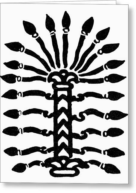 Symbol Sacred Tree Greeting Card by Granger