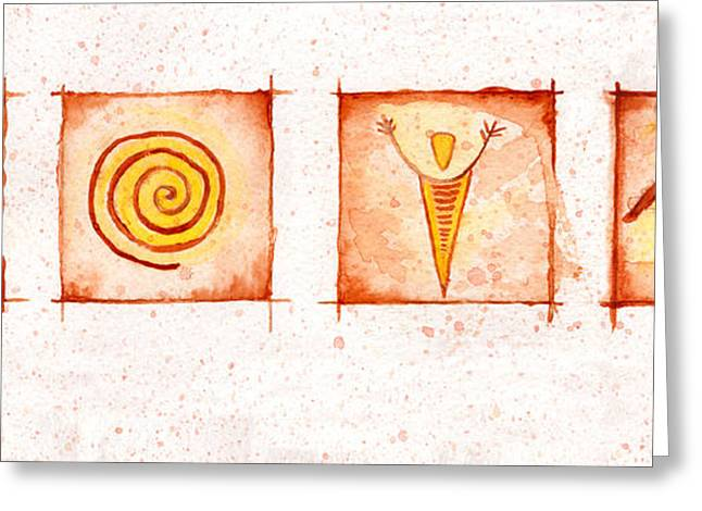 Symbols In Stone Greeting Card by Jerry McElroy