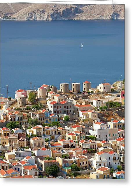 Symi Town, Symi Island, Dodecanese Greeting Card