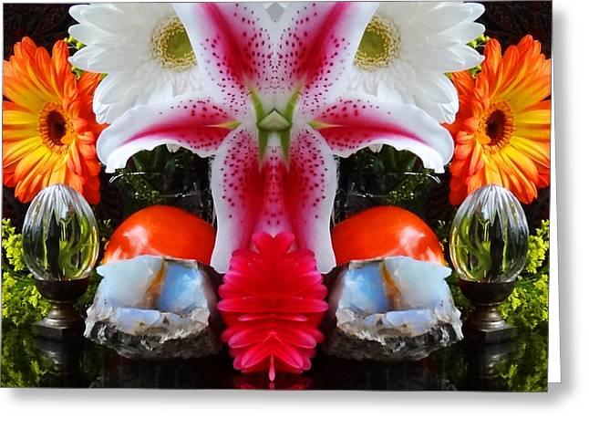Symmetric Life. Flowers. 2013 80/80 Cm.  Greeting Card