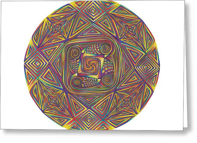 Symmetry Four Greeting Card by diNo