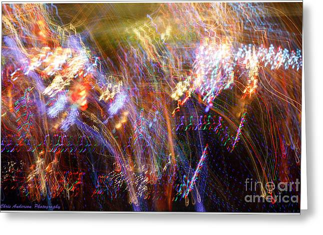 Symphonic Light Abstraction  Greeting Card by Chris Anderson