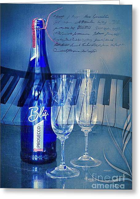 Symphony In Blue Greeting Card