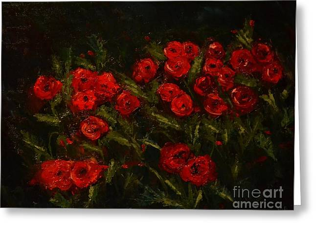 Symphony In Coquelicot Greeting Card