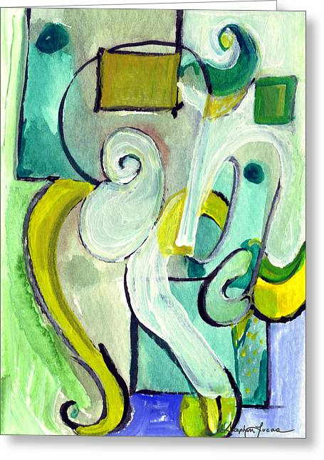 Symphony In Green Greeting Card