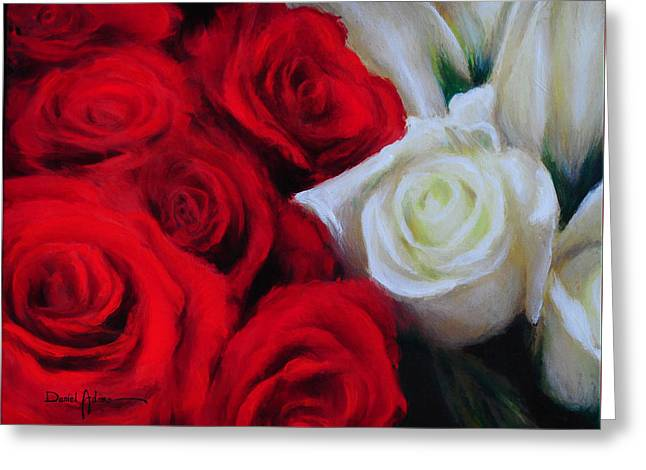 Da143 Symphony In Red And White By Daniel Adams Greeting Card