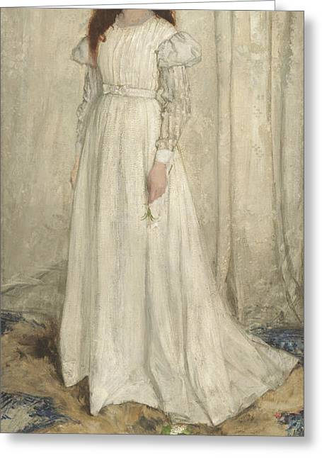Symphony In White No 1 The White Girl Greeting Card by James Abbott McNeill Whistler