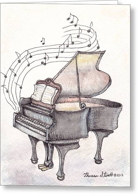 Symphony Greeting Card by Theresa Stinnett