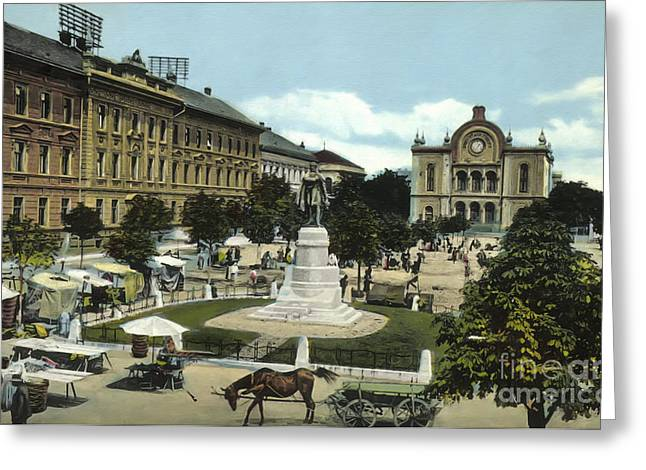 Synagogue Pecs Hungary 1915 Greeting Card by Vintage Printery