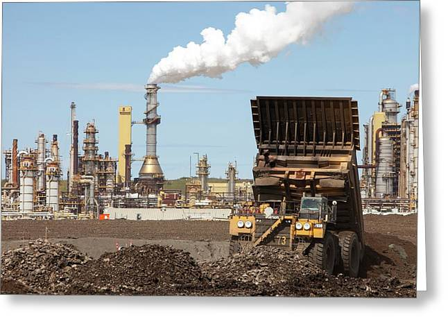 Syncrude Upgrader Plant Greeting Card by Ashley Cooper