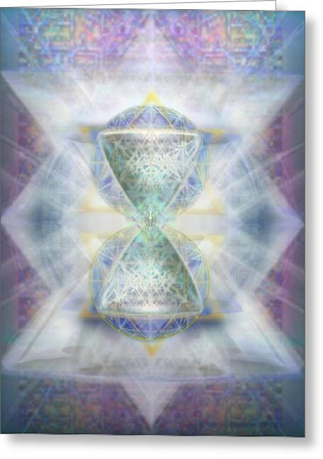 Synthesphered Chalice Fifouray Star On Tapestry Greeting Card by Christopher Pringer
