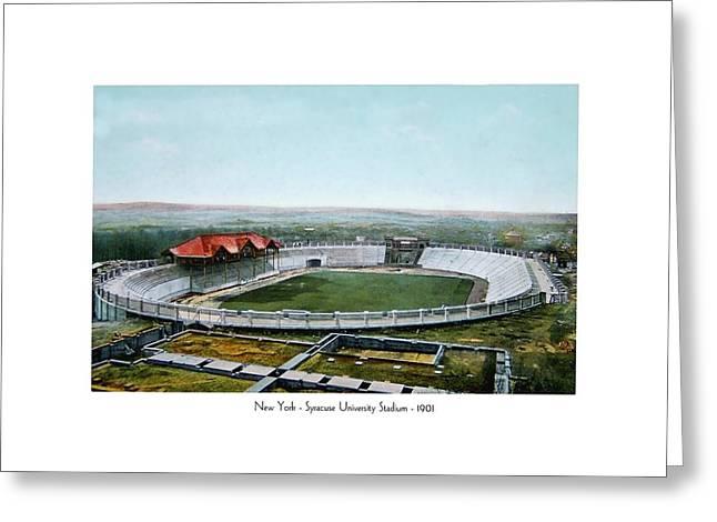 Syracuse - Newyork - Syracuse University Stadium - 1901 Greeting Card
