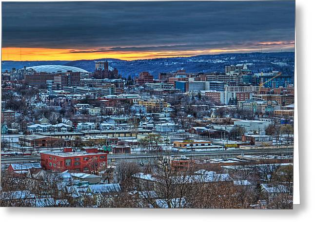 Syracuse At Sunset Greeting Card