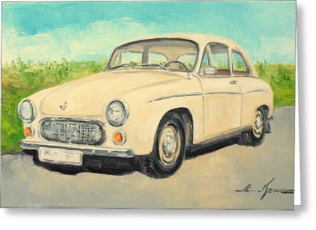 Syrena 105 - Polish Car Greeting Card