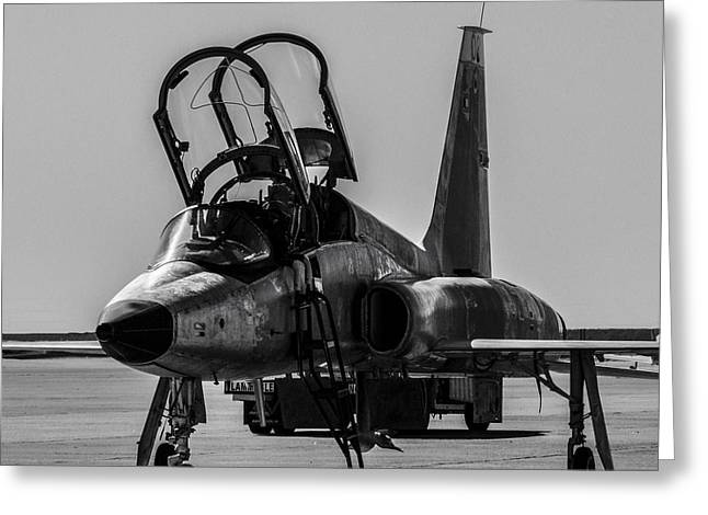 T-38 Talon Black And White Greeting Card