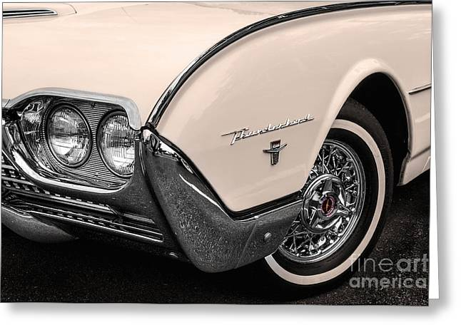 T-bird Fender Greeting Card by Jerry Fornarotto