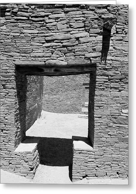 T For Two Bw Greeting Card by Elizabeth Sullivan