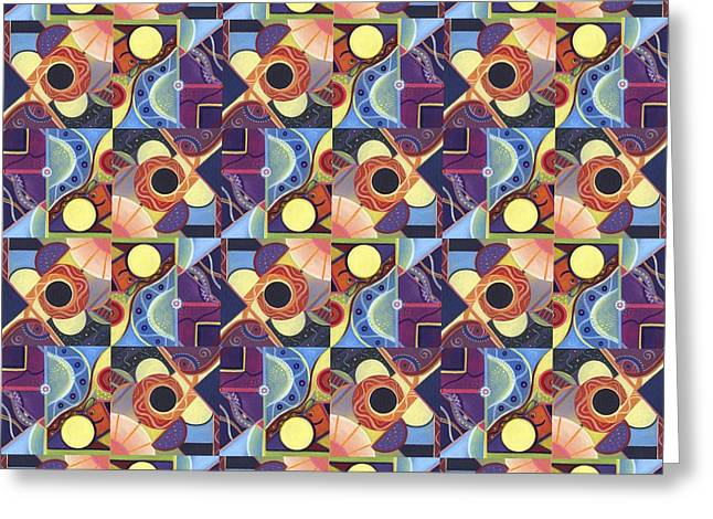 T J O D Tile Variations 11 Greeting Card by Helena Tiainen