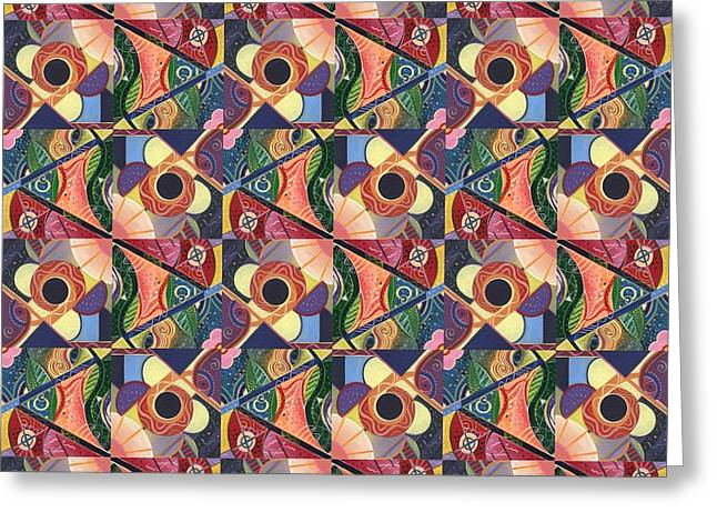T J O D Tile Variations 5 Greeting Card by Helena Tiainen