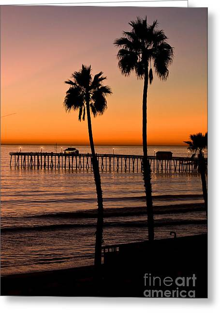 T Street Pier San Clemente California From The Book My Ocean Greeting Card