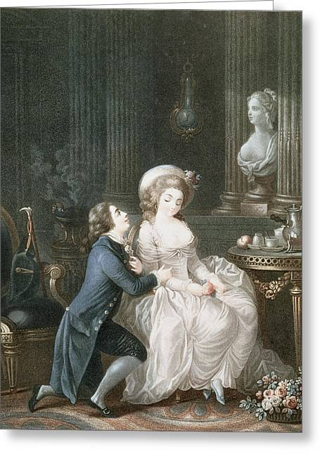 T.2342 Lamant Ecoute, 1775 Greeting Card by Louis Marin Bonnet