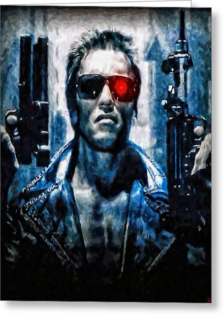 T800 Terminator Greeting Card