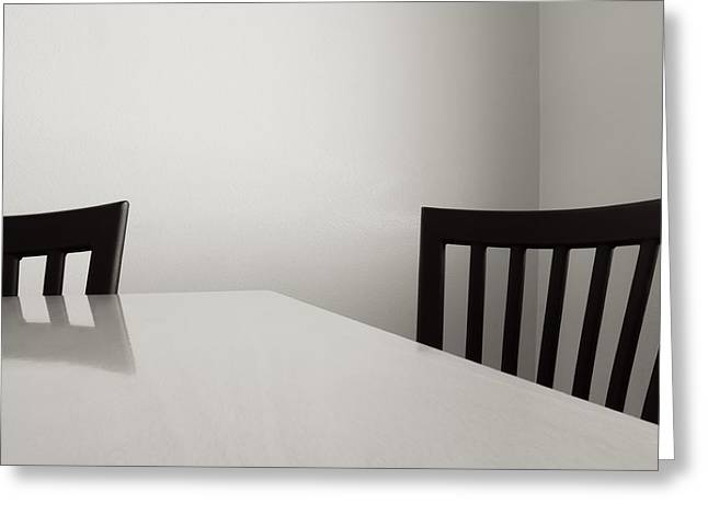Table And Chairs Greeting Card by Don Spenner